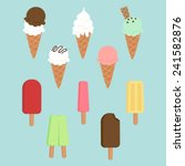 set of ice creams and popsicles. | Shutterstock .eps vector #241582876