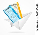 vector tickets and paper plane  ... | Shutterstock .eps vector #241585648