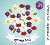 vector colorful spring sale...   Shutterstock .eps vector #241598608