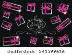 holiday composition with silver ...   Shutterstock .eps vector #241599616