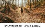 Hiker Woman Walking In...