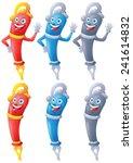 fountain pen cartoon character...   Shutterstock .eps vector #241614832