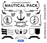vector pack of nautical... | Shutterstock .eps vector #241615645