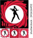 spy  silhouette of secret agent.... | Shutterstock .eps vector #241616452