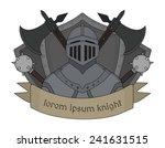 medieval knight logo. helmet ... | Shutterstock .eps vector #241631515