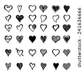 hand drawn hearts collection... | Shutterstock .eps vector #241636666