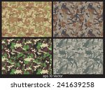 set of camouflage pattern vector | Shutterstock .eps vector #241639258