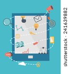 icons set of website seo...   Shutterstock .eps vector #241639882