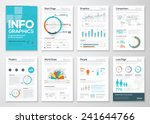 Big set of infographics elements in modern flat business style. Vector illustrations of modern info graphics. Use in website, flyer, corporate report, presentation, advertising, marketing etc. | Shutterstock vector #241644766