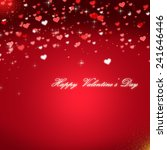 red valentines day background | Shutterstock . vector #241646446