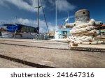 Boat Docking Point At A Marina...