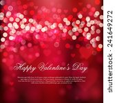 happy valentine's day card.... | Shutterstock .eps vector #241649272