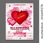 valentines day party flyer... | Shutterstock .eps vector #241649278
