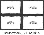 grunge frame set texture  ... | Shutterstock .eps vector #241653016