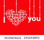 greeting card for valentine's... | Shutterstock .eps vector #241653892
