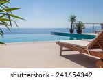 luxury swimming pool and blue... | Shutterstock . vector #241654342