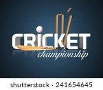 3d text for cricket... | Shutterstock .eps vector #241654645