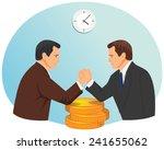 arm wrestling of two... | Shutterstock .eps vector #241655062