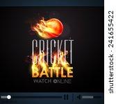 live cricket battle telecast... | Shutterstock .eps vector #241655422