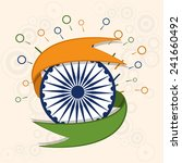 happy indian republic day... | Shutterstock .eps vector #241660492