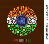 happy indian republic day...   Shutterstock .eps vector #241660525