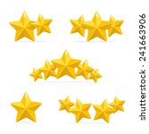 vector rating hotels stars... | Shutterstock .eps vector #241663906