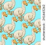 sketch dodo bird in vintage... | Shutterstock .eps vector #241665262