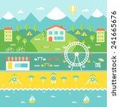 resort town landscape.... | Shutterstock .eps vector #241665676