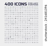 400 universal icons for any... | Shutterstock .eps vector #241681396