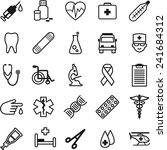 flat thin line medical icons in ... | Shutterstock .eps vector #241684312