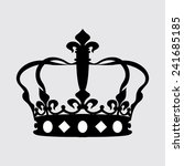 crown icons on a grey background | Shutterstock .eps vector #241685185