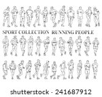 silhouettes of running people.... | Shutterstock .eps vector #241687912