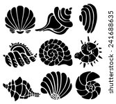 sea shells icon set isolated on ... | Shutterstock .eps vector #241688635