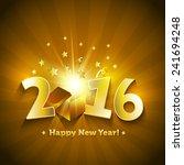 2016 open gift box happy new... | Shutterstock .eps vector #241694248