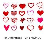 heart shape set | Shutterstock . vector #241702402