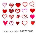 heart shape set vector | Shutterstock .eps vector #241702405
