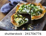 filo pastry tart with asparagus ... | Shutterstock . vector #241706776