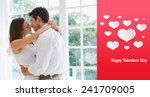 loving young couple about to... | Shutterstock . vector #241709005
