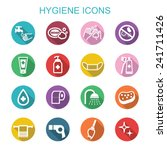 hygiene long shadow icons  flat ... | Shutterstock .eps vector #241711426