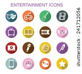 entertainment long shadow icons ... | Shutterstock .eps vector #241712056