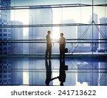 handshake business people team... | Shutterstock . vector #241713622