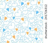 seamless background with hearts. | Shutterstock .eps vector #241726312