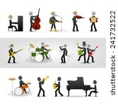 country  rock and jazz band.... | Shutterstock .eps vector #241732522