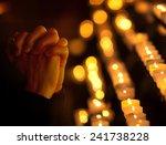 woman praying in church | Shutterstock . vector #241738228