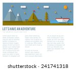 Camping flat design. EPS 10. Transparency. No gradients.