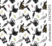 tattoo machines and ink vector... | Shutterstock .eps vector #241741372