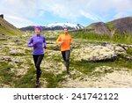 Sport Running. Runners On Cross ...