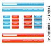 web menu | Shutterstock .eps vector #24175561