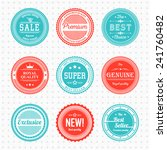 vintage labels template set. ... | Shutterstock .eps vector #241760482