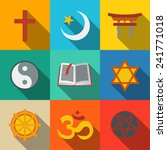 world religion symbols flat set ... | Shutterstock .eps vector #241771018